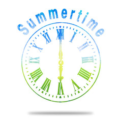 Summertime Abstract Clock With Summer Colors