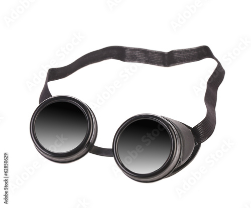 Black goggles used for eye protection