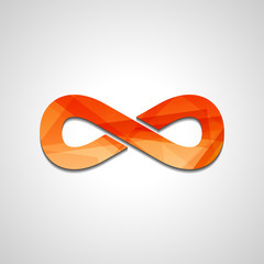 Abstract Infinity symbol, style illustration