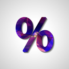 Abstract percentage symbol, style illustration