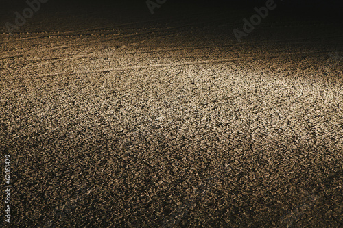 Dry cracked desert surface, at night in Black Rock Desert in Nevada, USA