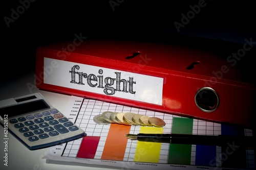 Freight on red business binder - 62852852