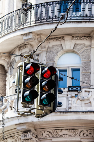Street light in Vienna, Austria.