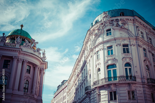 Traditional architecture in Vienna, Austria.