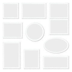 Blank White Stamps Set Frame