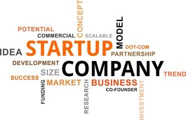 word cloud - startup company