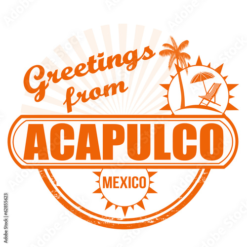 Greetings from Acapulco stamp