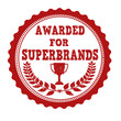 Awarded for superbrands stamp