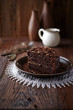 Dark Espresso Cake with Chocolate Glaze