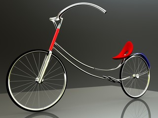 concept of electric bike for adv or others purpose use