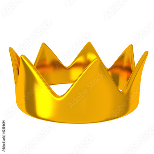 Golden crown, 3d