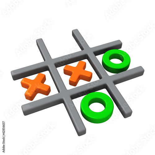 Naughts and crosses game, 3d