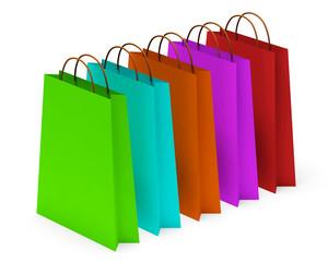 Borse da shopping colorate