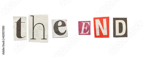 The End, Cutout Newspaper Letters