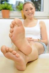 Gepflegte Füße ohne Hornhaut