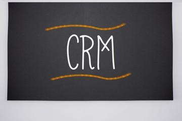 Crm written on big blackboard