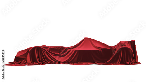 Fotobehang Formule 1 Presentation of the car. F1. Formula One. Isolated on white.