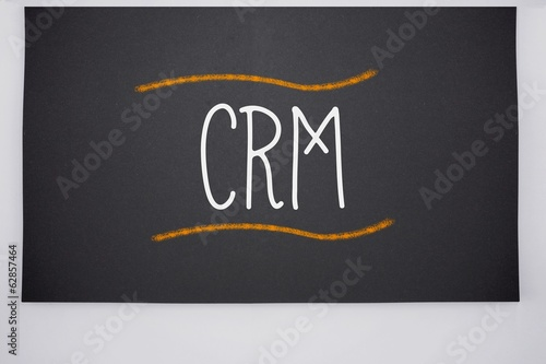 Crm written on big blackboard