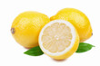 Ripe lemon isolated