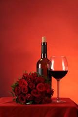 Rosenrot Rotwein