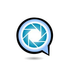 Photography logo with alphabet Q