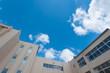 canvas print picture - 校舎と青空