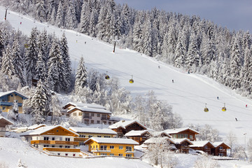 Ski piste Alps