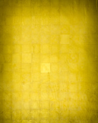 Golden wall texture with square pattern