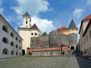 Courtyard of Palanok castle in Mukacheve, Ukraine