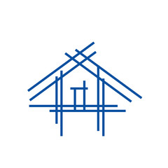 Real estate logo- house with sticks