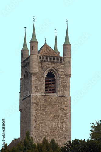 Isolated Saint Martin Church, Vevey, Switzerland