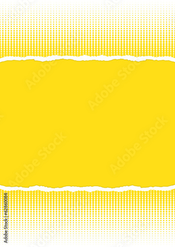 Torn paper, yellow background