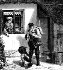 Postman - Facteur - 19th century