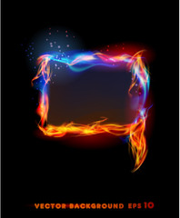 Fire collection. Frame bubble for text