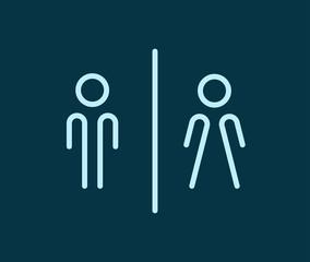 Rest room symbols