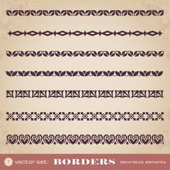 Borders decorative elements set 7