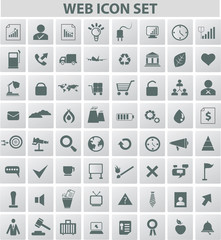 Web and media icon set,vector