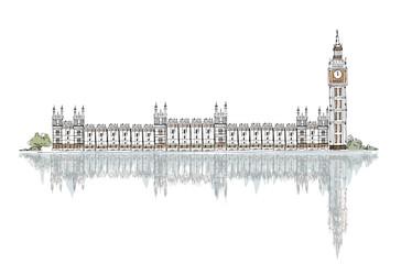 City of Westminster and Big Ben panorama