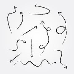 Arrows drawing,vector