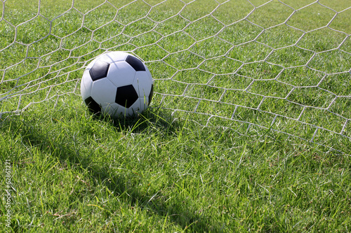 Soccer ball at goal
