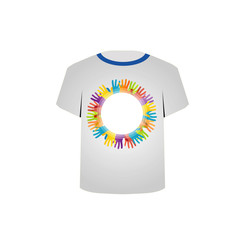 tshirt graphic- colorful hands
