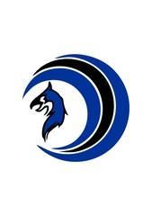 circle Blue  griffin logo