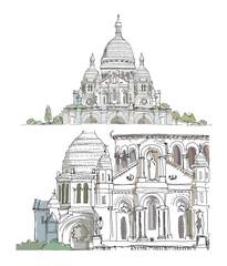 Paris, sketch collection: Sacred Heart in Montmartre Paris