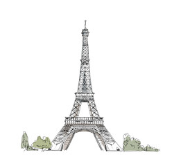 Paris, sketch collection: Eiffel tower