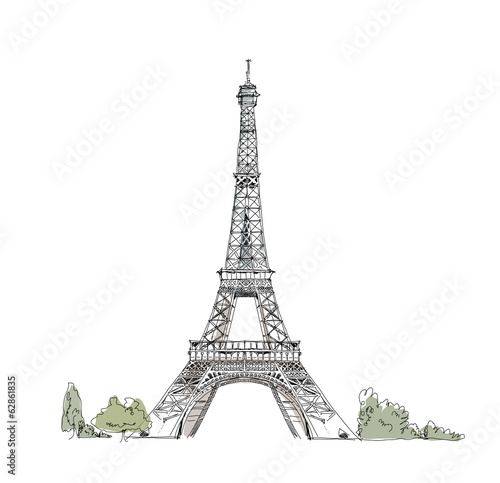 Paris, sketch collection: Eiffel tower