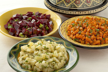 Moroccan diversity of salads