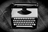 Old vintage typewriter  on wooden background - 62862804
