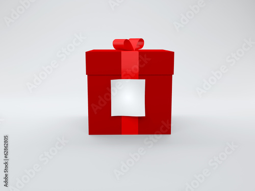 gift box with white paper note