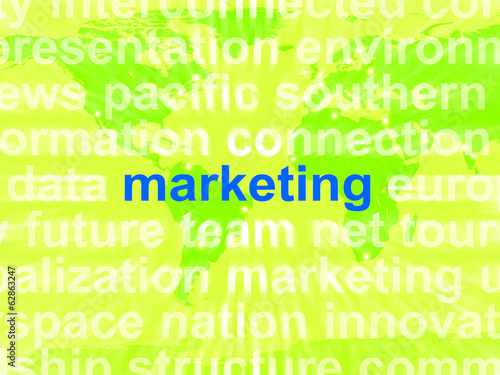 Marketing In Word Cloud Means Market Advertising Sales