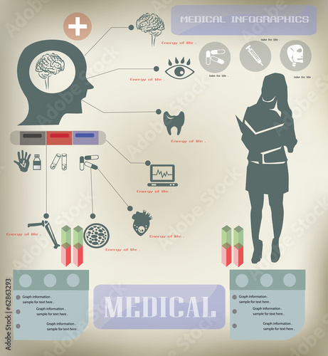 Medical infographics ,vector